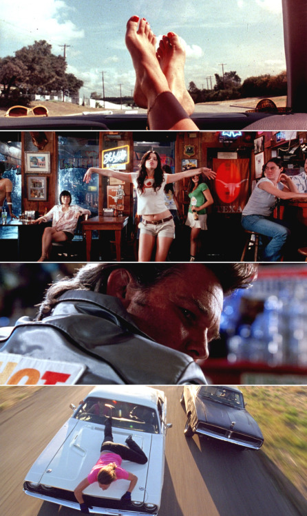 Death Proof, 2007 (dir. Quentin Tarantino) By cinemetrics