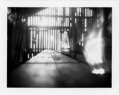 The old sawmill - Polaroid 450 using Fuji FP100B film.