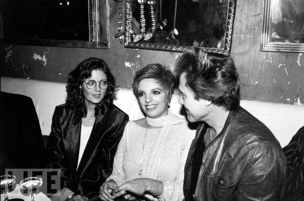 Susan Sarandon, Liza Minnelli and Christopher Walken