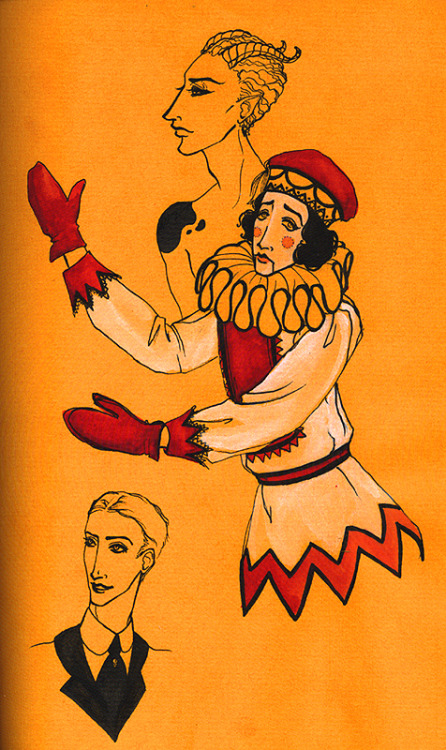 I am on a Ballets Russes bender yet again, so here comes the spam. Oldest to newest - I think these are from when I was 19 or 20?