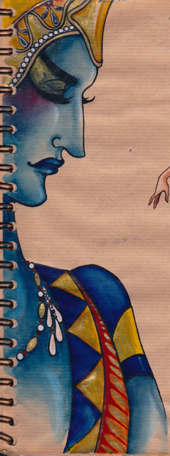 This doesn't really look like Nijinsky, but that's ok, because its blue and gold.