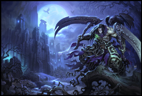 svalts:  Darksiders II // by Jonathan Kirtz & Joe Madureira GameInformer Cover Artwork