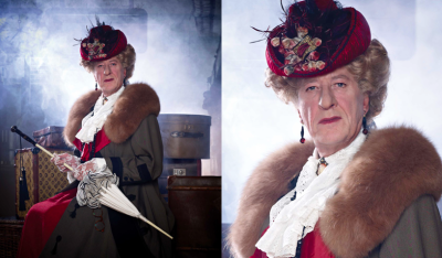 devdevnumnums:  whyamimisterpink:  Geoffrey Rush plays Lady Bracknell in the MTC's sold-out production of Oscar Wilde's The Importance Of Being Earnest.  Want.