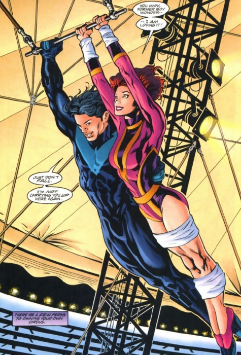 There's a few perks to owning your own circus. Birds of Prey #8