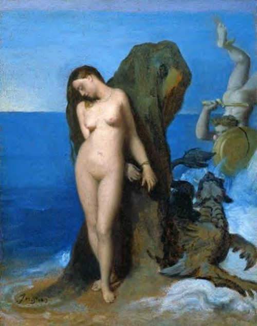 artemisdreaming:  Perseus and Andromeda Jean Auguste Dominique Ingres