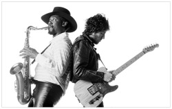 Clarence Clemons suffered a stroke Spare a thought for the Big Man. Let's hope he gets better soon.  [Photo by Eric Meola via]