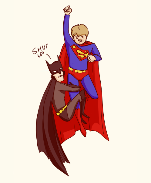 redunderwear: you should draw sherlock as batman and john as superman worlds finest or gayest same thing