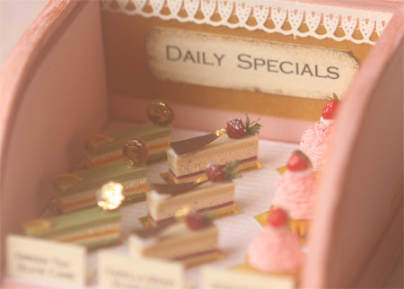 peiliminiatures:  Inspiration behind the dollhouse miniature elegant cakes