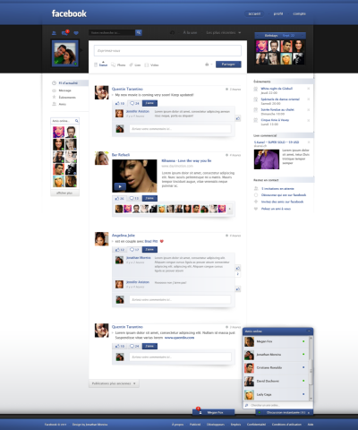 via Facebook Redesign by *jonaska on deviantART