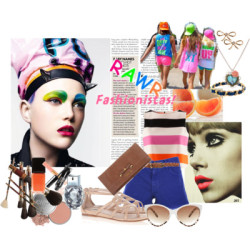 Neon Summer by maya-channel♥ featuring prada bags