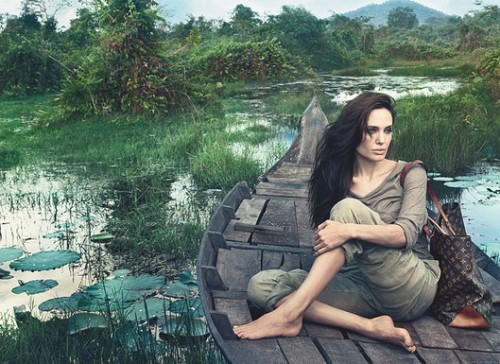 suicideblonde:  Angelina Jolie photographed in Cambodia by Annie Leibovitz for Louis Vuitton