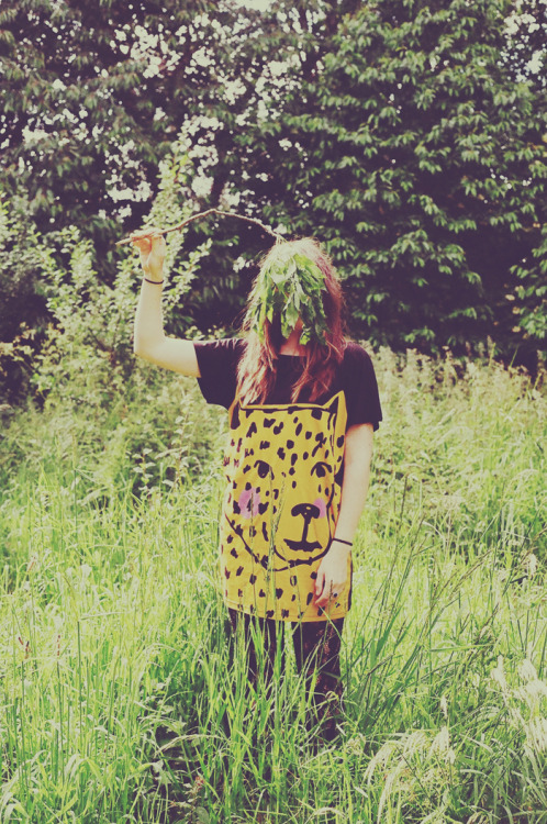 lazyoaf:  Go really wild in our Big Cat Tee Dress. Photo by Zoe Bateman from our latest style blog.