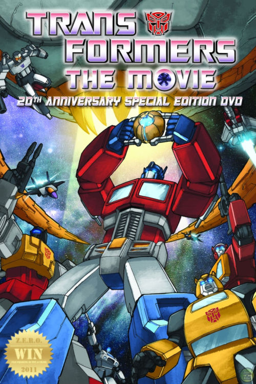 "The Transformers: The Movie  (1986) The Autobots must stop a colossal planet consuming robot who is after the Autobot Matrix of Leadership. ""You got the touch, You got the power… Yeeeeeaaaah!!!"" The ULTIMATE 80s sci-fi cartoon! The definition of ""EPIC"". Childhood awe and splendor have resurfaced like an acid flashback. Intergalactic War has never looked so cool! Featuring the voice talents of: Judd Nelson, ""Guinness Book of World Records fastest talker."" John Moschitta Jr.,  Mr. Sci-fi Leonard Nimoy as Galvatron, The iconic Optimus Prime voice by Peter Cullen AND the legendary Orson Welles as Unicron! Plus, the original tv character voices/actors. Cartoon death has never been so sad… the loss of a leader and a rise of a novice. An action packed adventure that will be with me 'til the day i die. The live action films have never been able to capture the cartoon/toy franchise as true as this. No matter how many times i watch this… it never gets old. The Transformers is the crown jewel of 80s cartoon movies! G.I. Joe: The Movie (1987) is in 2nd place, without a doubt. Both tv series have influenced my life (moral lessons) and has made me the man that i am today. *Yes, i have a Decepticon tattoo."