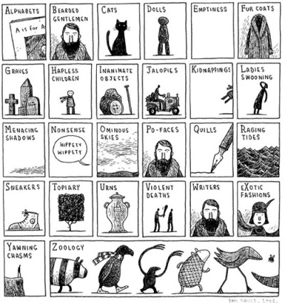 from The Books of Edward Gorey by Tom Gauld