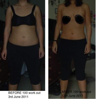 tinytard:  before-afters:  154pounds: I'm 5'8. I saw this thing called the 100 Work Outon Tumblr. (http://29.media.tumblr.com/tumblr_lmi1iu67yT1qksslgo1_500.jpg) I began doing it on 3rd June. It's now 10 days later and having done the work out 7 out of 10 days, I'm noticing results. Particularly on my abs. I haven't actually lost any weight doing this (mostly because i feasted like a beast all week), but I am visibly more toned.   !!i don't believe in crunches tho, i do sit ups, but looks like i'll be doing this!  This looks great. :D