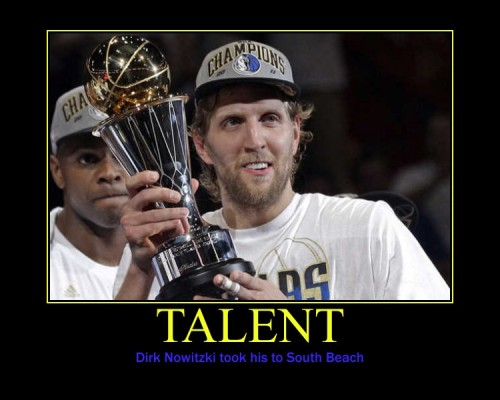 Just because Nowitzki has been an underdog and there isn't quite enough hate to dump on LeBron in the world.  (via imgur: the simple image sharer)