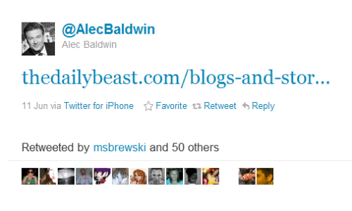 Alec Baldwin reads The Daily Beast!