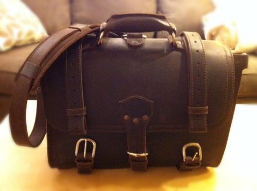It's on Craigslist: Saddleback Leather briefcases If you've been fawning over those briefcases from Saddleback Leather and happen to live in Chicago, then you can get one for around $100 less than retail. I have no idea who's selling these, but the photos look legitimate: Saddleback Leather large chestnut briefcase, $410 Saddleback Leather medium dark coffee brown briefcase, $430
