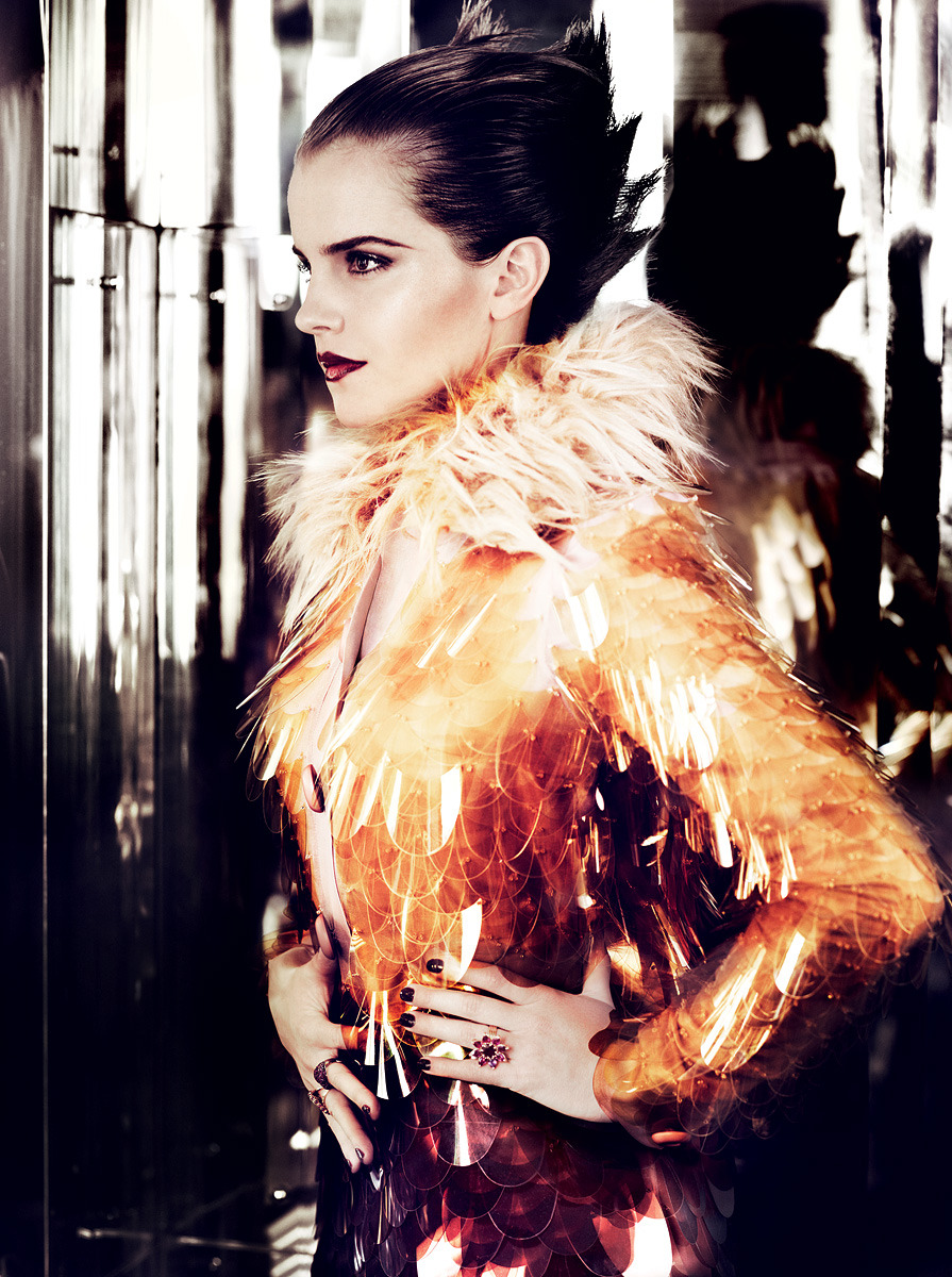 vogue:  Emma Watson Photographed for the July Issue of Vogue by Mario Testino  Emma Watson photographed by Marion Testino, styled by Camilla Nickerson for Vogue US July 2011