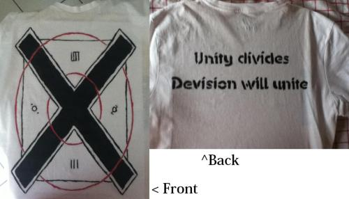 My new MARS shirt or should I say Echelon shirt? Unity dividesDevision will unite