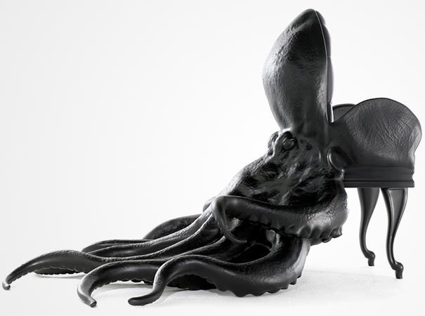 matroff:  I love Octopuses (as you know) … and god when I have a studio, or any space to fit this in my own home, I WANT THIS.Check out this Stunning Octopus Chair.  Killer.