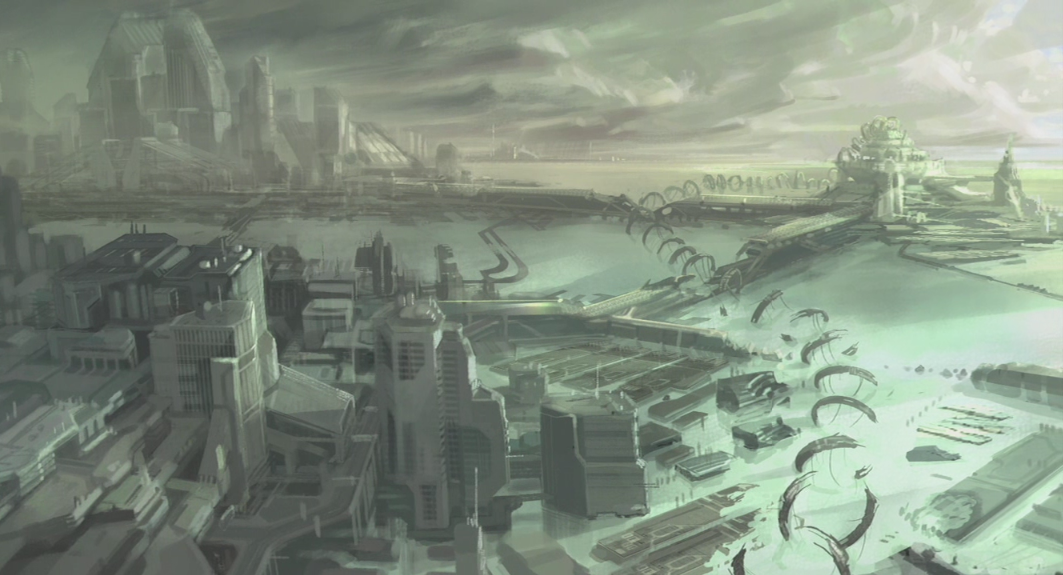 New Mombasa concept art for Halo 3: ODST.