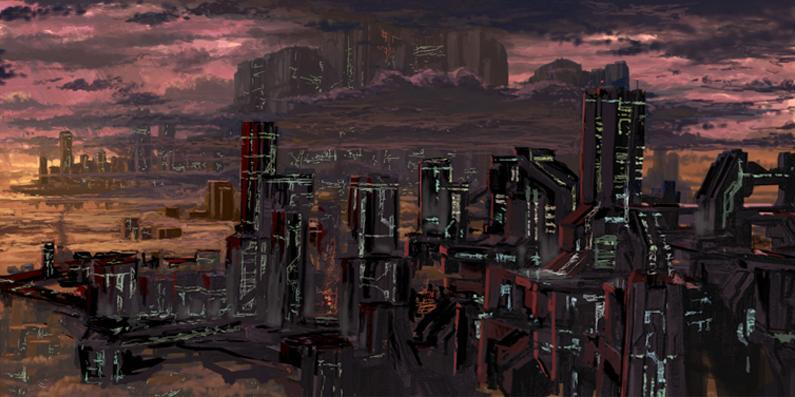 New Mombasa concept art for Halo 2