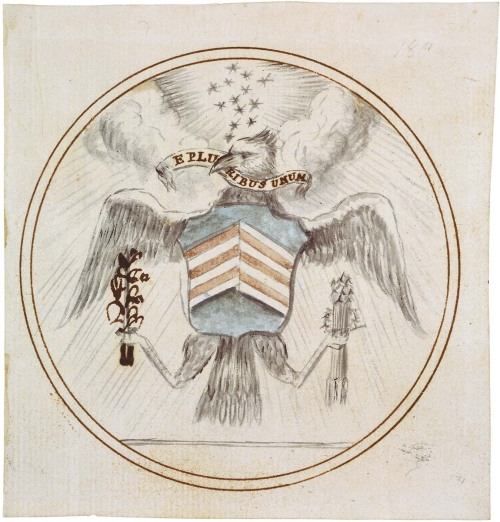 todaysdocument:  230 years ago today - the Great Seal of the United States was officially adopted: todaysdocument:  June 20 - Charles Thomson's design for the Great Seal of the United States, 1782 Just a few hours after the Declaration of Independence was adopted by the Continental Congress on July 4, 1776, the first committee to design a seal for the United States was appointed, and its design began. After undergoing numerous changes, on June 20, 1782, the seal was officially adopted by the Continental Congress.