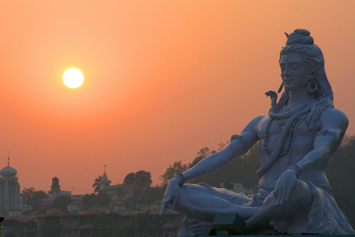 desiwood:  Statue of Shiva - Rishikesh, Northern India.