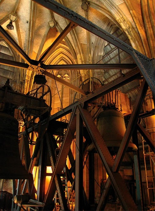 poculum:  Gothic Bell Tower Interior - Cologne, Germany Industrial photography by James Kay