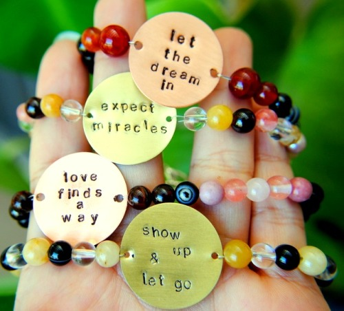 The lovely Intention gemstone bracelets are on sale today!  And they're super pretty!  Go get them!  ♥∞
