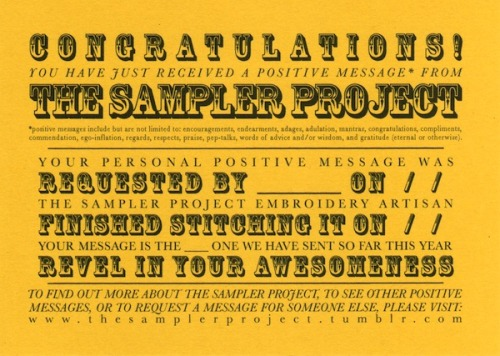 The Sampler Project is coming back soon!