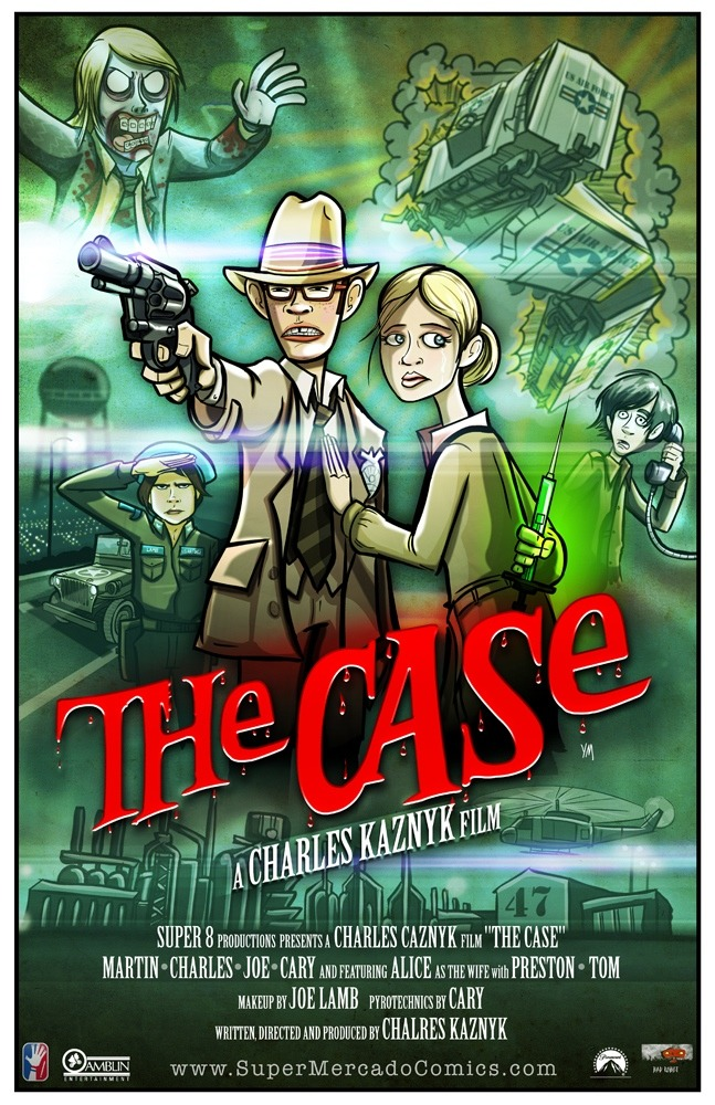 Yehudi Mercado created a movie poster for The Case which is the movie the kids were filming in Super 8. via /Film