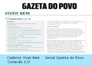 Blogs no jornal Gazeta do Povo