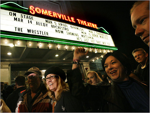 "Wahlberg film crew coming to Somerville Theater - The feature film, ""Ted"" starring Mark Wahlberg and Mila Kunis, is expected to shoot outside the Somerville Theater in Davis Square tomorrow, closing roads and likely snarling traffic."