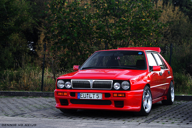 Time to Play Lancia Delta HF  Photo taken by Dennis Vdmeijs outside of the Nurburgring in Germany