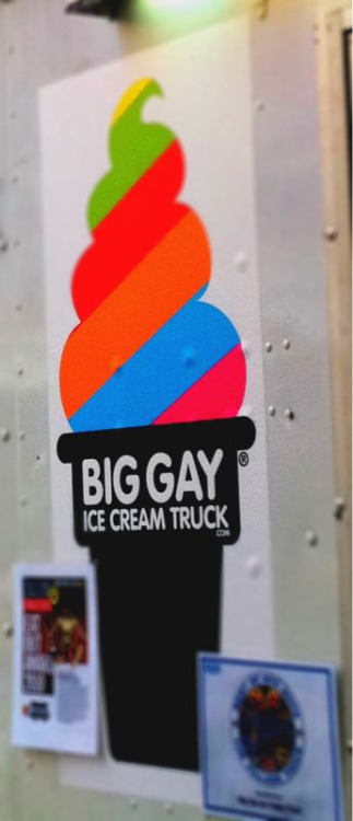 For all you new Yorkers who are loyal mr. Softy fans. I understand your loyalty but believe it or not I've found something better. It's the Big Gay Ice Cream Truck. It has great specialty cones with crazy toppings like wasabi and nutella. I got the salty pimp: vanilla soft serve, sea salt, something else, all dipped on chocolate. I highly recommend.