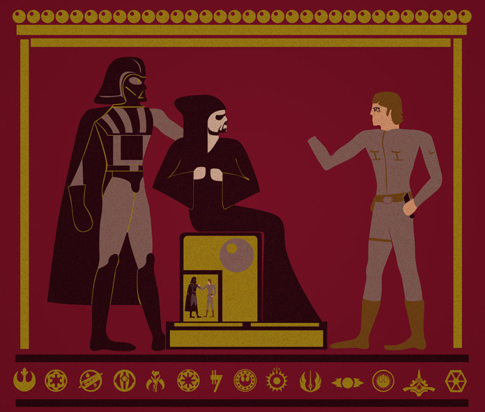 svalts:    Starwarglyphics - by Dann Matthews Tumblr || Website || Flickr || Facebook || Twitter  Prints available at society6! via: danndesigns