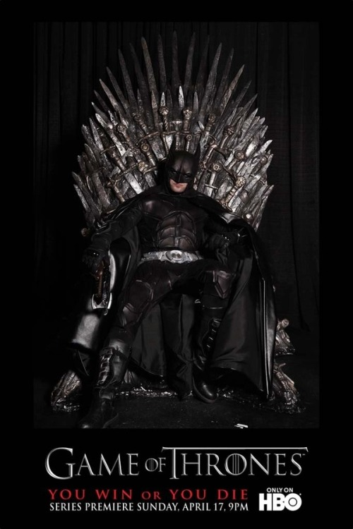 Batman sitting on the Iron Throne? *GASP* ::faint::