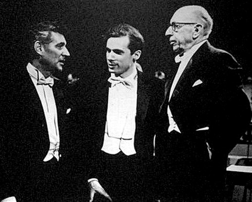 Leonard Bernstein, Glenn Gould and Igor Stravinsky (submitted by Tom)
