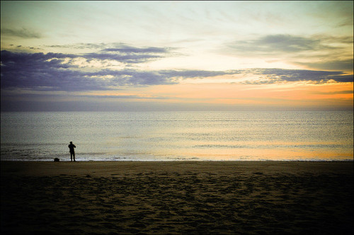 Cape Cod Sunrise Fisherman :: Wellfleet, MA by md91180 on Flickr.