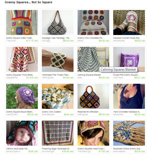 lydiaslovelies:  Check out this treasury I made on Etsy.  Click the picture to see some beautiful granny square inspired items.
