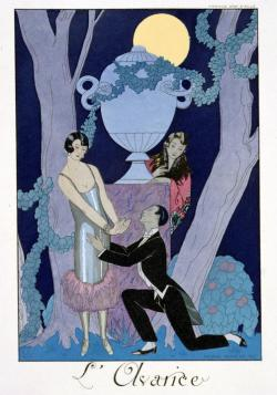 "mothgirlwings:  ""Avarice"" by Georges Barbier - 1924"