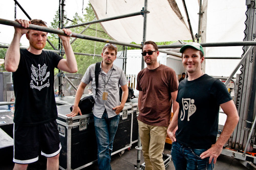 The Dismemberment Plan after their set at The Roots Picnic - Philadelphia, PA - June 4, 2011