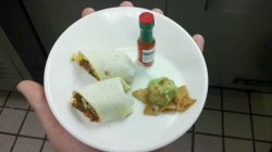 Tiny Burrito I knew I had to put a tiny Tabasco on this.