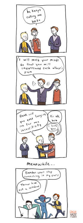 gingerhaze:  Charles and Erik have very different styles of parenting.