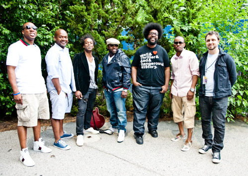 Last photo from The Roots Picnic: The Roots backstage at their own picnic. - Philadelphia, PA - 06/04/2011