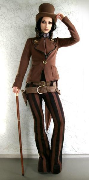 steampunkcage:  I found this on Steampunk Costume—another photo of Kato in steampunk fashion. She's such a beautiful model.