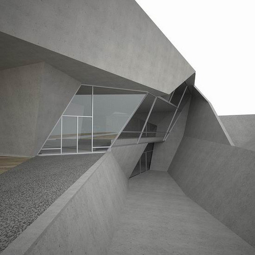 gregmelander:  GREY CEMENT  What a great space. Glass and cement always go together.