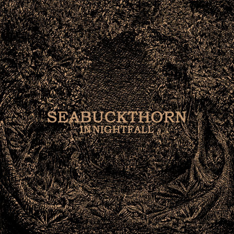 "SeaBuckThorn – In Nightfall 8.0                  SeaBuckThorn is  dark. How dark? Well, let's say Andy Cartwright must write this at night  as there's hardly any light allowed. Listening to this, I'd consider  him a practitioner of John Fahey's concept called ""American Primitivism""  despite his English roots. John Fahey's idea behind this phrase was  acoustic guitar music would meld together neo-classical with country  blues fingerpicking. ""In Nightfall"" embodies his concept perfectly.                   We  begin with the tactile ""Address the Night"". There's no adornment on  here. No other guitar. Other songs possess a little background with an  electric guitar, violin, or piano. Most of the time it is a one man  show, with Andy playing a lonely tune. ""Carrier"" is a favorite of mine.  Around the one minute mark I'm reminded of Nick Drake's playing style,  sparse, simple, and effective. Hearing the small rhythm emerge makes me  extremely happy. ""The River Answered"" sounds hypnotic. Little flourishes  of sound in the background give me the sense of a giant space.                   At  times the sound is nearly silent. ""Gone Estray, Being Circled"" may be  the quietest offering on here. Only occasionally does the volume  increase to a near-audible amount. I like how well the name goes with  it. An Estray is an animal found wandering or lost. Witnessing it being  circled would be much like the effect I hear on this song: quiet, tense,  and bleak.                  I  liked this album quite a bit. For preparation I had to wait until I  could find a quiet enough place. As this is a dark and soft-spoken  album, it is best to listen to at night. This is a vivid, unusual album.  Not too many artists are interested in this sound right now. Thankfully  SeaBuckThorn managed call this niche his own."
